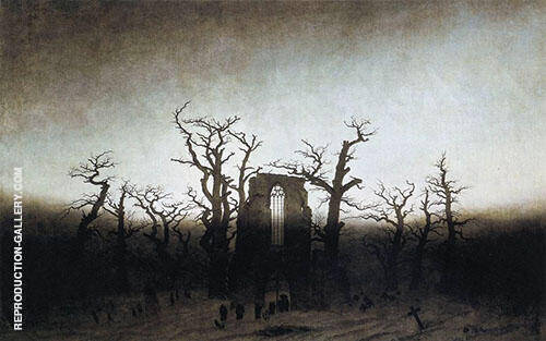 The Abbey in The Oakwood 1810 By Caspar David Friedrich