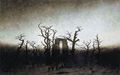The Abbey in The Oakwood 1810 By Caspar David Friedrich