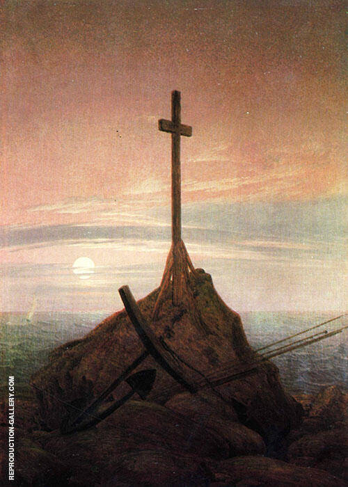 The Cross Beside The Baltic 1815 Painting By Caspar David Friedrich