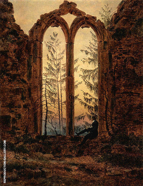The Dreamer 1840 By Caspar David Friedrich