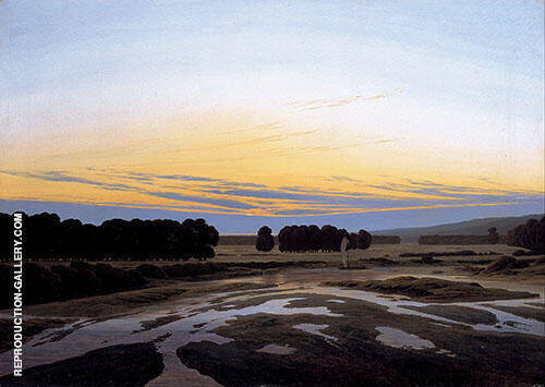 The Grosse Gehege Near Dresden By Caspar David Friedrich