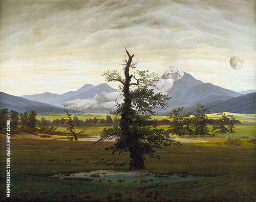 The Lonely Tree Painting By Caspar David Friedrich - Reproduction Gallery