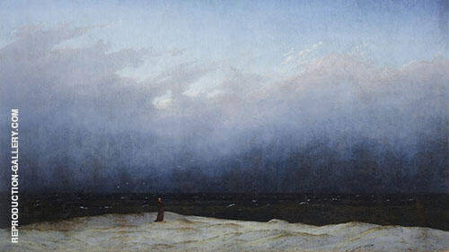 The Monk by The Sea 1808 Painting By Caspar David Friedrich