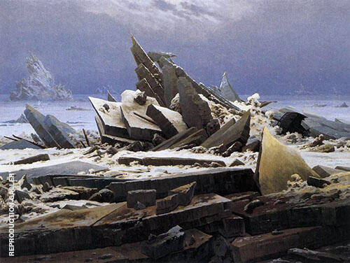 The Sea of Ice 1823 By Caspar David Friedrich