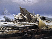 The Sea of Ice 1823 By Caspar David Friedrich