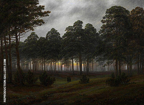 The Times of day The evening By Caspar David Friedrich