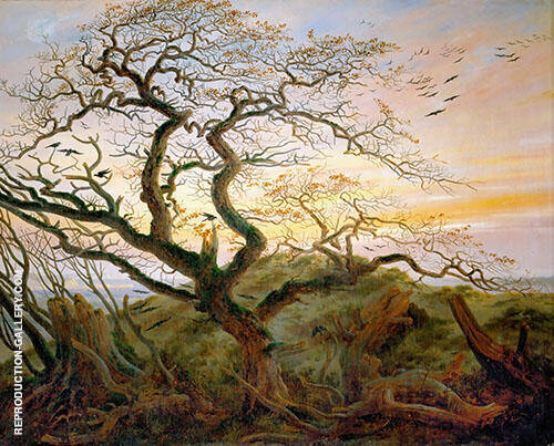 The Tree of Crows 1822 By Caspar David Friedrich