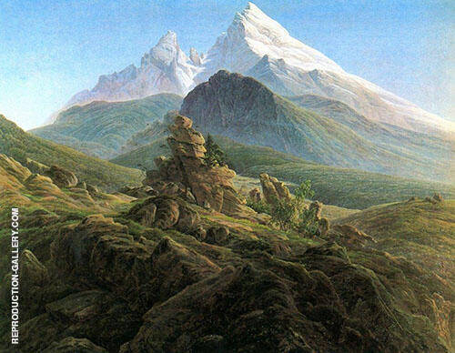 The Watzmann 1825 By Caspar David Friedrich