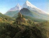 The Watzmann 1825 By Caspar David Friedrich
