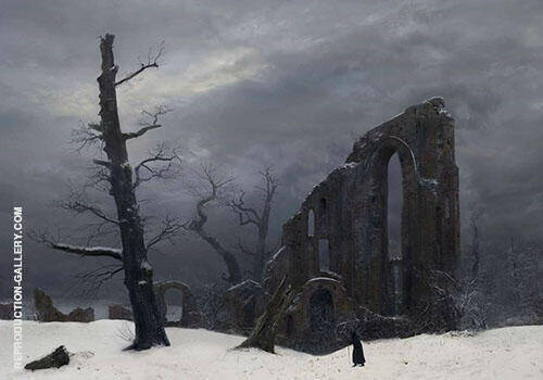 The Winter 1807 Painting By Caspar David Friedrich - Reproduction Gallery