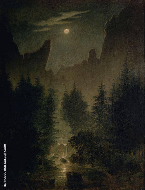 Uttewalder Grund 1825 By Caspar David Friedrich
