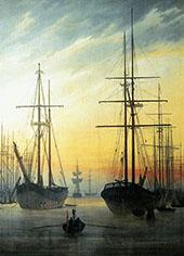 View of a Harbour 1815 By Caspar David Friedrich