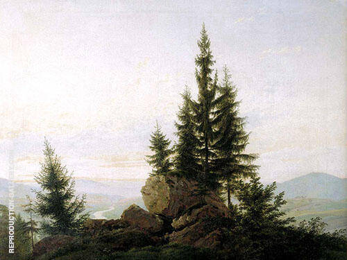 View of The Elbe Valley 1807 By Caspar David Friedrich