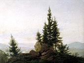 View of The Elbe Valley 1807 By Caspar David Friedrich