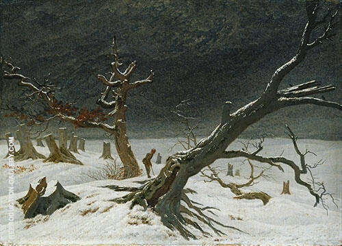 Winter Landscape Painting By Caspar David Friedrich - Reproduction Gallery