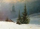 Winter Landscape 1811 By Caspar David Friedrich