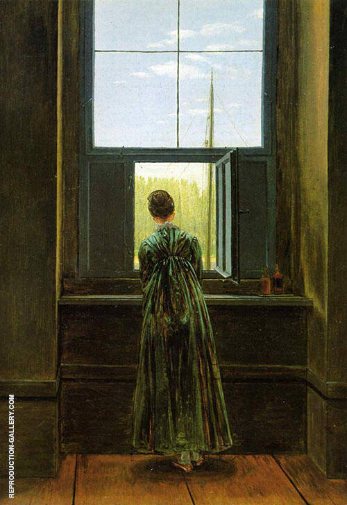 Woman at The Window 1822 Painting By Caspar David Friedrich