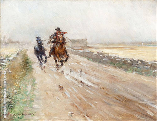Landscape of Oland Gypsies on a Horse By Nils Kreuger