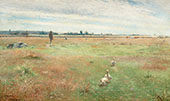 Landscape with Geese Morbylanga By Nils Kreuger