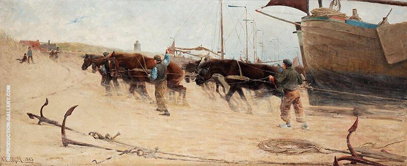 From the Dutch Coast - Fran Hollandska Kusten By Nils Kreuger