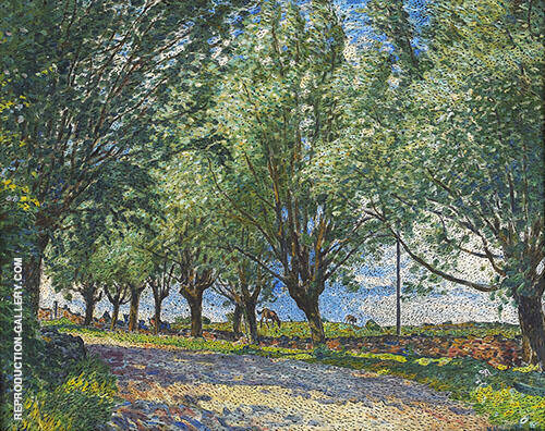 Pilar Vid en Vag 1916 By Nils Kreuger