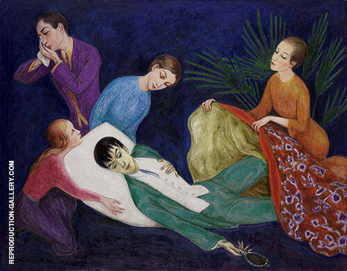 Dying Dandy 1918 Painting By Nils Dardel - Reproduction Gallery