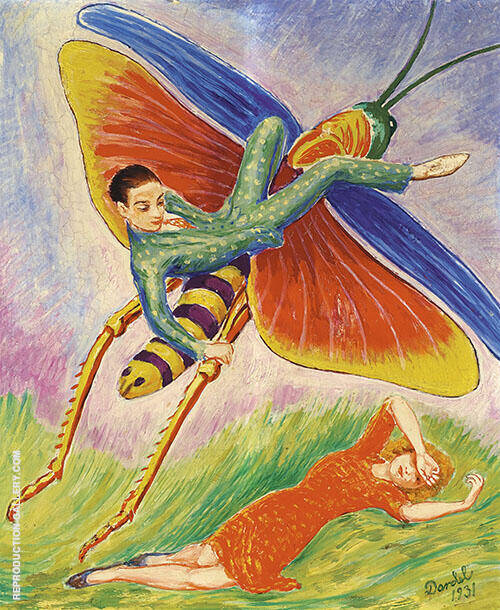 The Grasshopper 1931 Painting By Nils Dardel - Reproduction Gallery