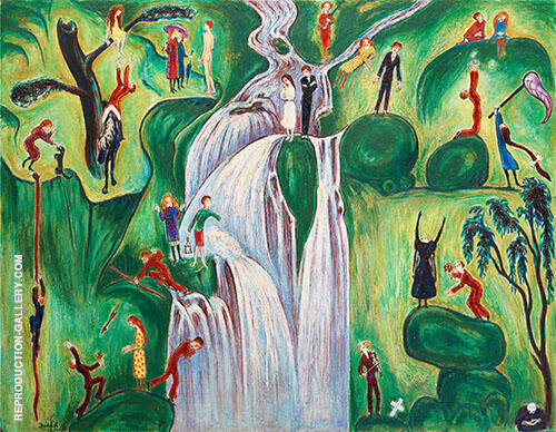 Vattenfallet 1921 Painting By Nils Dardel - Reproduction Gallery