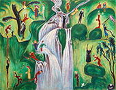 Vattenfallet 1921 By Nils Dardel