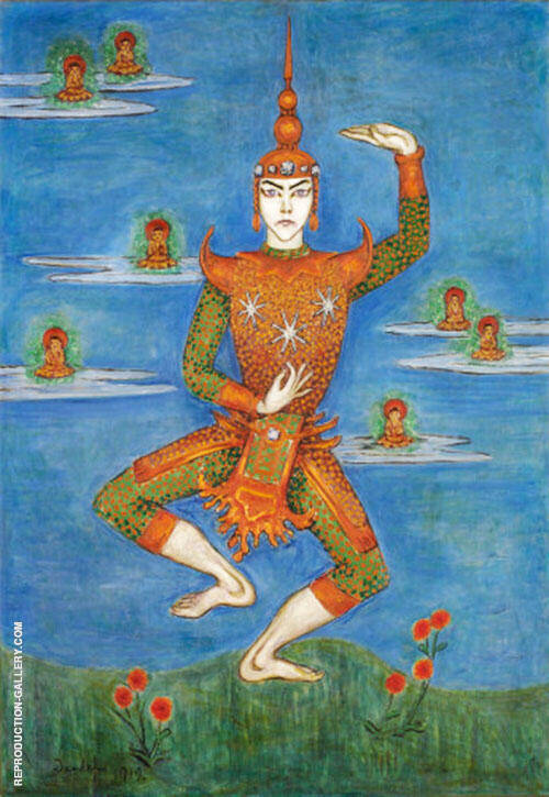 The Siamese Dance 1921 Painting By Nils Dardel - Reproduction Gallery