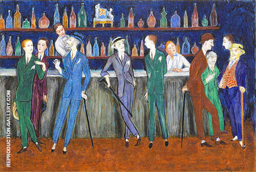 The Bar 1920 Painting By Nils Dardel - Reproduction Gallery