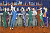 The Bar 1920 By Nils Dardel