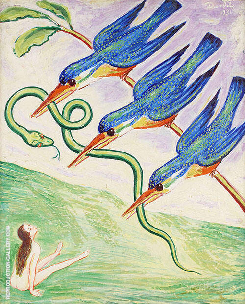 The Abduction of the Snake 1931 Painting By Nils Dardel