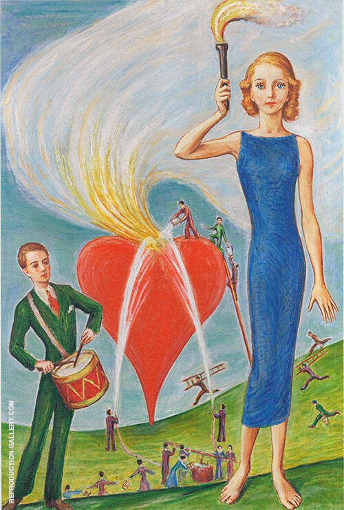 A Heart in Flames 1930 By Nils Dardel