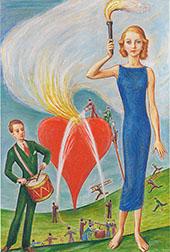 A Heart in Flames 1930 By Nils Dardel