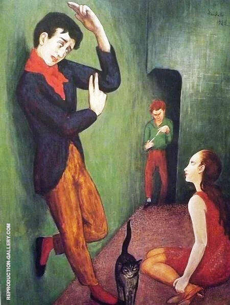 Paranoid 1925 Painting By Nils Dardel - Reproduction Gallery