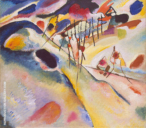 Landscape 1913 Painting By Wassily Kandinsky - Reproduction Gallery