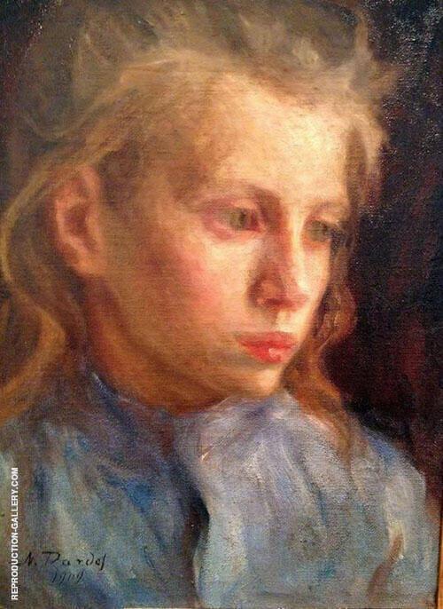 Farm Girl 1909 By Nils Dardel