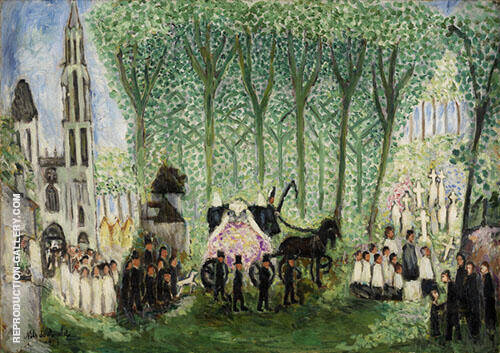 Burial in Senlis 1913 By Nils Dardel
