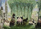 Burial in Senlis 1913 By Nils Dardel