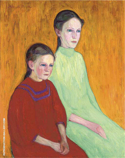 Two Girls 1911 By Nils Dardel