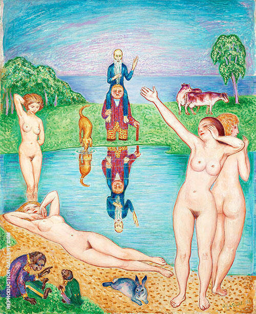 Return to the Playgrounds of Youth 1924 By Nils Dardel