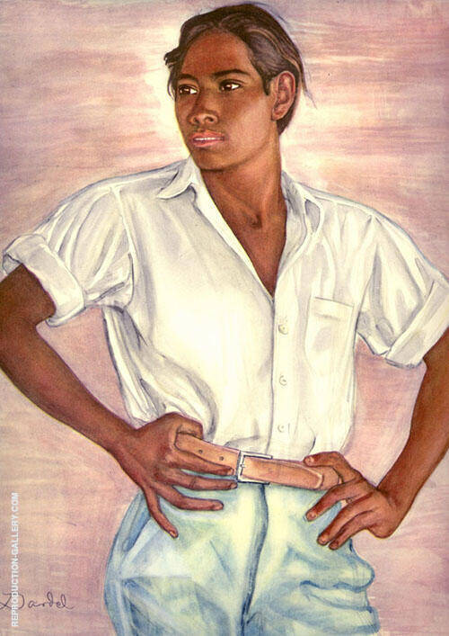 Mexican Boy 1940 Painting By Nils Dardel - Reproduction Gallery