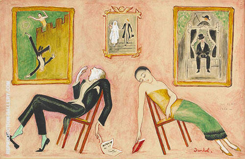 Family Idyll 1923 By Nils Dardel