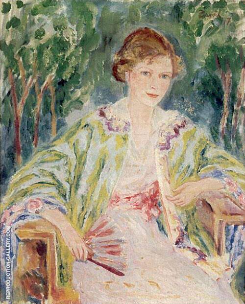 Nita Wallenberg 1917 Painting By Nils Dardel - Reproduction Gallery