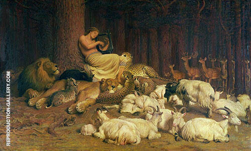 Apollo Playing the Lute By Briton Riviere