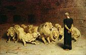 Daniel in the Lion's Den By Briton Riviere