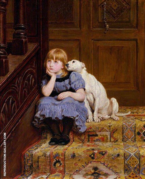 Sympathy 1878 Painting By Briton Riviere - Reproduction Gallery