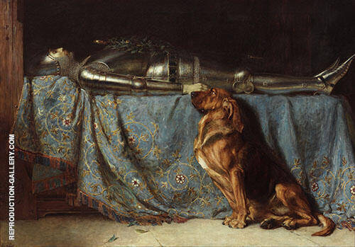 Requiescat 1888 Painting By Briton Riviere - Reproduction Gallery