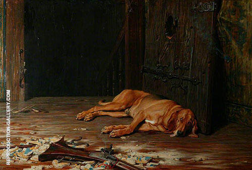 The Last of the Garrison 1875 By Briton Riviere